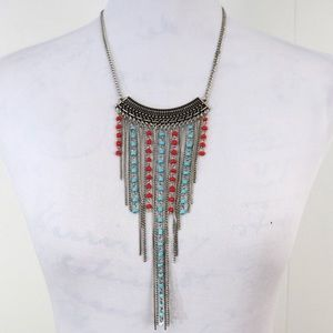 Cascading beaded necklace